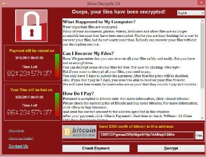 CryptoLocker Wannacry