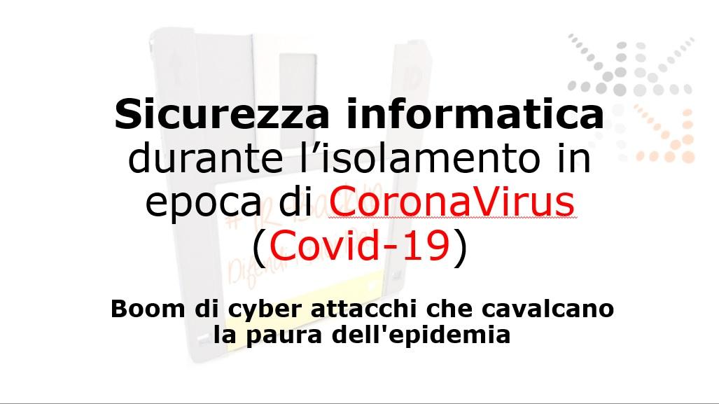 A BNI si parla di Minacce informatiche in epoca Coronavirus