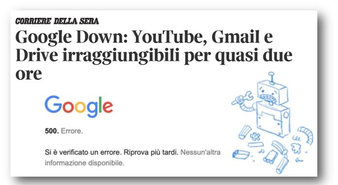 A BNI si parla di Sicurezza informatica e Cloud - Down Google